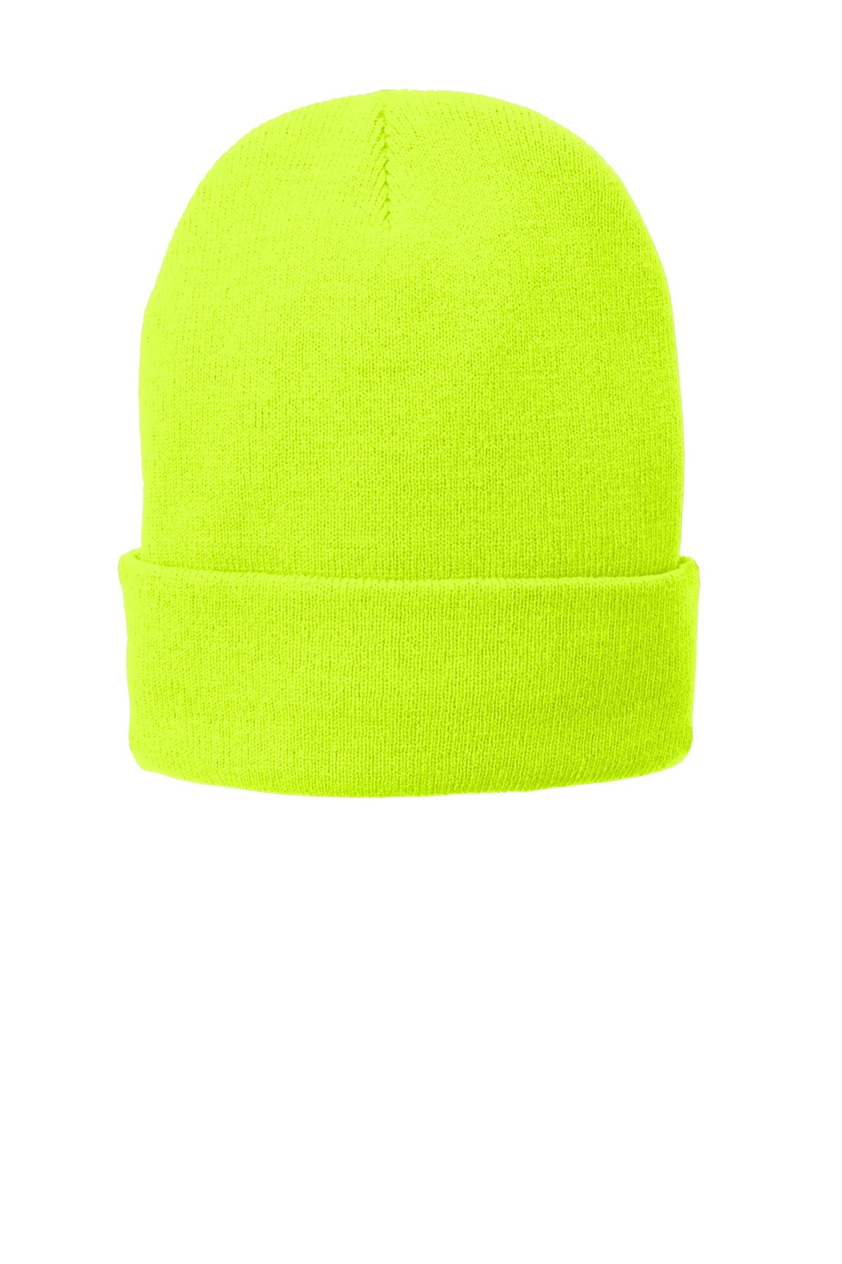 Port   Company Fleece-Lined Knit Cap CP90L Neon Yellow Port ... bed9b1939b86