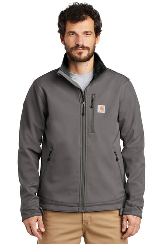 Company Logo Carhartt Crowley Soft Shell Jacket CT102199 Charcoal