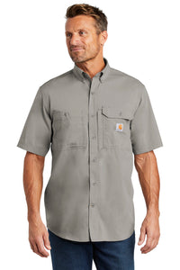 carhartt force ridgefield solid short sleeve shirt ct102417 asphalt