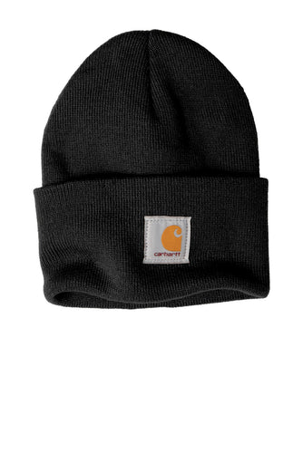 Custom Carhartt Acrylic Watch Hat CTA18 Black