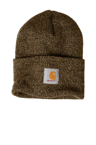 carhartt acrylic watch hat cta18 dk brown/sndst