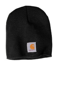 Custom Carhartt Acrylic Knit Hat CTA205 Black
