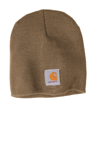 Custom Carhartt Acrylic Knit Hat CTA205 Canyon Brown