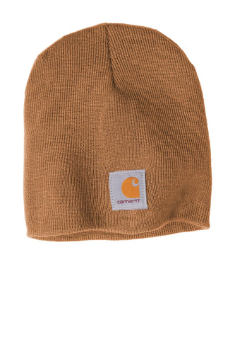 Custom Carhartt Acrylic Knit Hat CTA205 Carhartt Brown