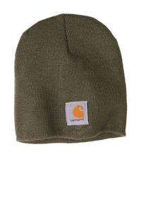 Custom Carhartt Acrylic Knit Hat CTA205 Dark Green