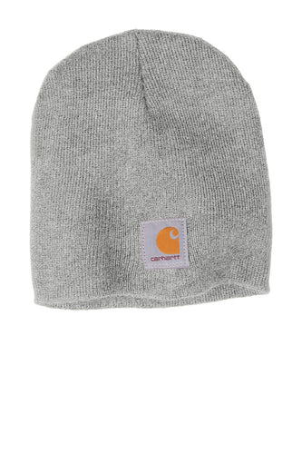 Custom Carhartt Acrylic Knit Hat CTA205 Heather Grey