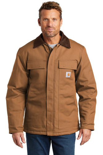 Company Logo Carhartt Duck Traditional Coat CTC003 Carhartt Brown