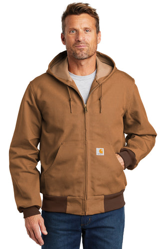 carhartt thermal-lined duck active jacket ctj131 carhartt brown