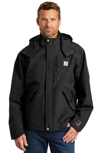 Carhartt Black CTJ162 embroidered jacket custom