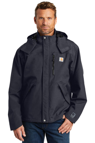 Carhartt Navy CTJ162  embroidered jacket custom