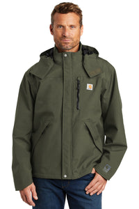 Carhartt Olive CTJ162 embroidered jacket custom