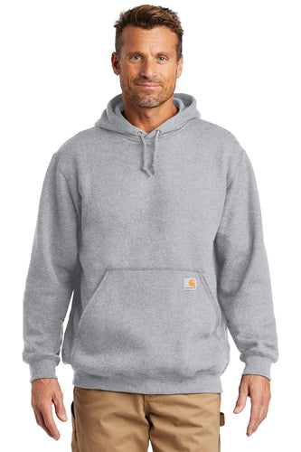 Company Logo Carhartt Midweight Hooded Sweatshirt CTK121 Heather Grey