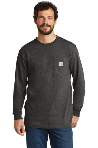 Company Logo Carhartt Workwear Pocket Long Sleeve T-Shirt CTK126 Carbon Heather
