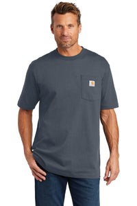 carhartt workwear pocket short sleeve t-shirt ctk87 bluestone