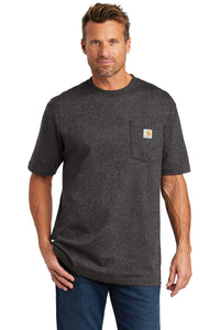 carhartt workwear pocket short sleeve t-shirt ctk87 carbon heather