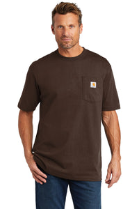 carhartt workwear pocket short sleeve t-shirt ctk87 dark brown