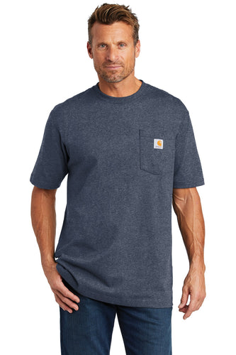 carhartt workwear pocket short sleeve t-shirt ctk87 dk cob blue he