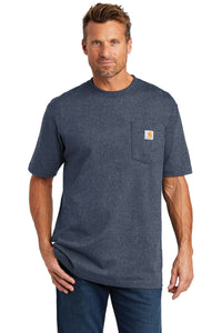 Company Logo Carhartt Workwear Pocket Short Sleeve T-Shirt CTK87 Dk Cob Blue He