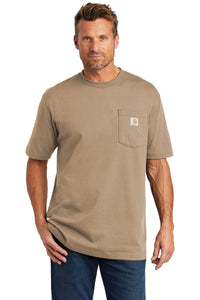 carhartt workwear pocket short sleeve t-shirt ctk87 desert