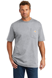 carhartt workwear pocket short sleeve t-shirt ctk87 heather grey