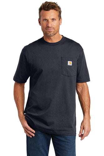 carhartt workwear pocket short sleeve t-shirt ctk87 navy
