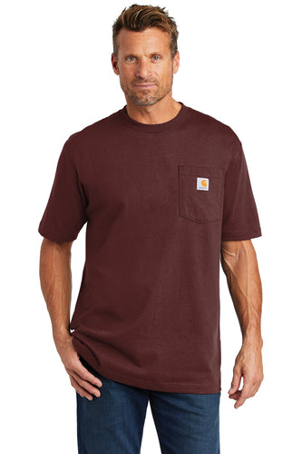 carhartt workwear pocket short sleeve t-shirt ctk87 port