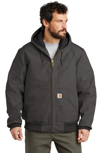 Company Logo Carhartt Quilted-Flannel-Lined Duck Active Jacket CTSJ140 Gravel