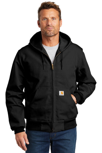 carhartt tall thermal-lined duck active jacket cttj131 black