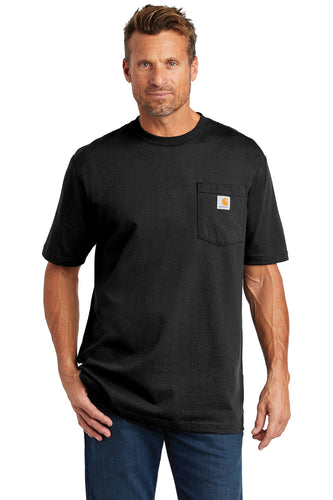 Custom Carhartt Tall Workwear Pocket Short Sleeve T-Shirt CTTK87 Black