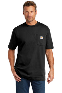 carhartt tall workwear pocket short sleeve t-shirt cttk87 black