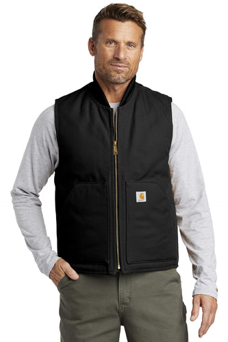 carhartt duck vest ctv01 black