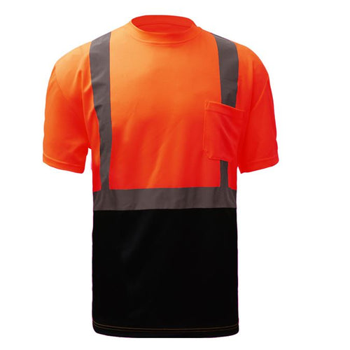 GSS Class 2 Safety Safety T-Shirt 5112 Orange with Black Bottom