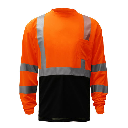 GSS Class 3 Safety LS T-Shirt 5114 Orange with Black Bottom