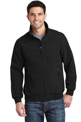 port authority black j337 jacket company logo