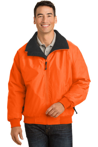 port authority safety orange/ black j754s team jackets embroidered