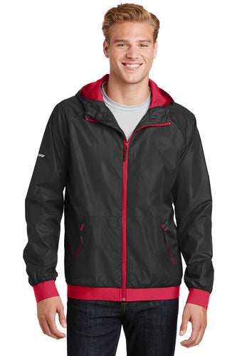 Sport-Tek Black/ True Red JST53  business jackets with logo