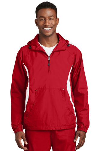 Sport-Tek True Red/White JST63 promotional jackets company logo