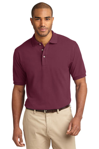 Port Authority Heavyweight Cotton Pique Polo Burgundy K420