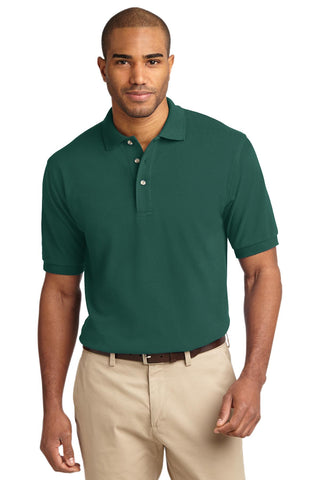 Port Authority Heavyweight Cotton Pique Polo Forest K420