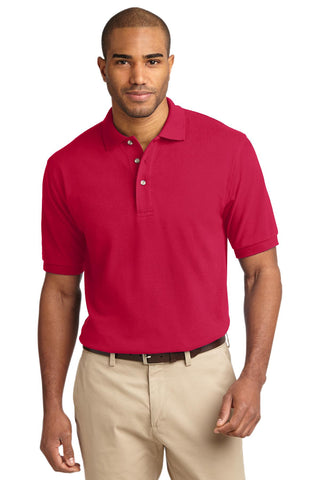 Port Authority Heavyweight Cotton Pique Polo Red K420