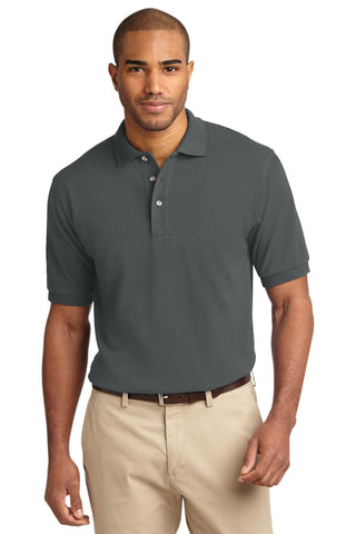 Port Authority Heavyweight Cotton Pique Polo Steel Grey K420