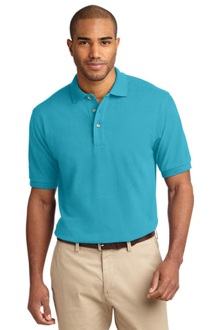 Port Authority Heavyweight Cotton Pique Polo Turquoise K420
