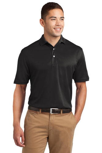 Sport-Tek Black TK469 quality polo shirts with company logo