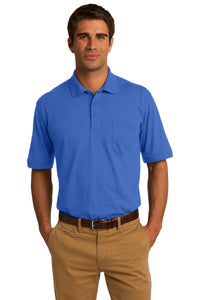 port & company royal kp55p polo shirts with logos
