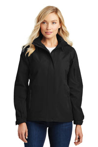 port authority black/black l304 embroidered team jackets