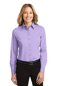 Port Authority Bright Lavender L608 custom work shirts