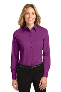Port Authority Deep Berry L608 logo shirts