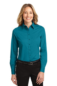 Port Authority Teal Green L608 custom embroidered shirts