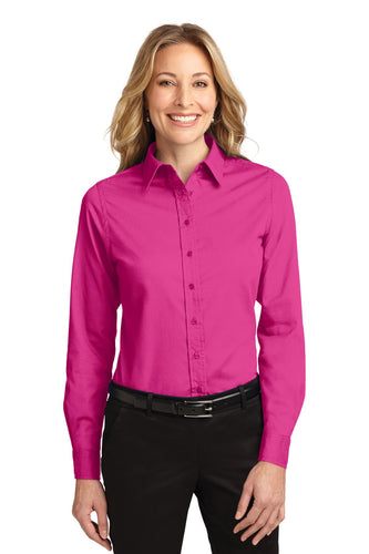 Port Authority Tropical Pink L608 custom embroidered shirts
