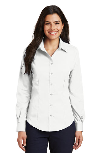 Port Authority White L638 business shirts with company logo